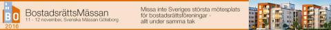 BostadsrättsMässan i Göteborg 11-12 november 2016. Den största mötesplatsen för bostadsrättsföreningar - Allt under samma tak!