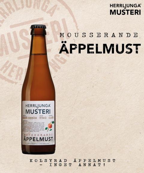 Nyhet från Herrljunga Musteri - Mousserande Äppelmust!