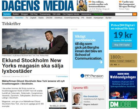 Eklund Stockholm New Yorks magasin ska sälja lyxbostäder