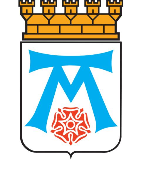 Västerås stad logotype vit text