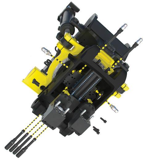 Engcons slangeløse modulsystem og high-flow-svirvel er klar til serieproduktion  – det gør tiltrotatoren lettere, mere servicevenlig og tillader højere flows