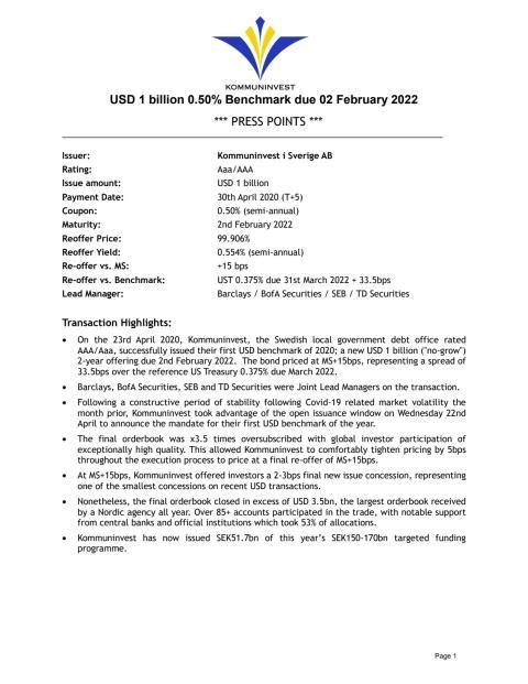 USD Emission Press Points