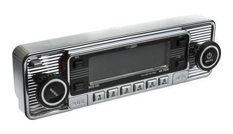 Retroradio från Verktygsboden – moderna funktioner i gammalt utseende, krom bild1