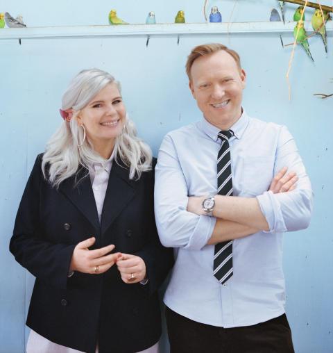 Sofie Linde og Anders Breinholt laver 'en slags forestilling' sammen på Aveny-T i 2020