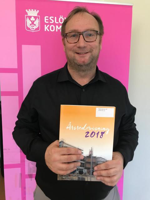 Johan Andersson kommunstyrelsens ordförande i Eslövs kommun