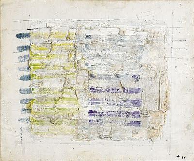 Jean Fautrier, Raies sur un carré