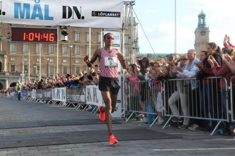 Ababa Lama, Hälle IF, vann DN Stockholm Halvmarathon 2014