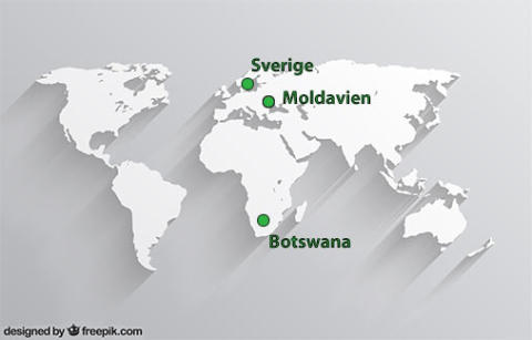 Moldavien och Botswana i samarbete  med Ale