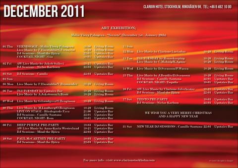 Eventkalender december - Clarion Hotel Stockholm