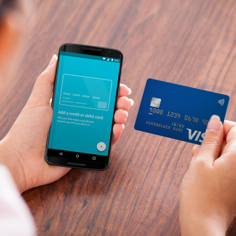 Visa Karte in Android Pay ablegen