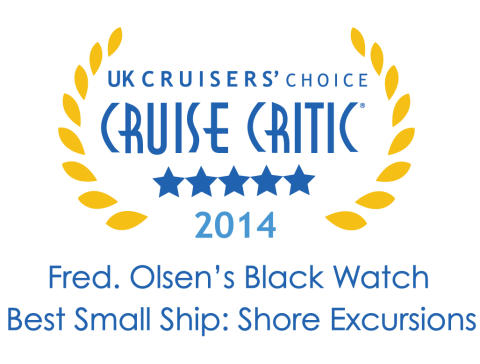 Fred. Olsen Cruise Lines wins top accolades in the  Cruise Critic 'UK Cruisers' Choice Awards 2014'