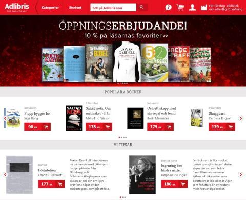 Nordens största internetbokhandel i ny kostym!