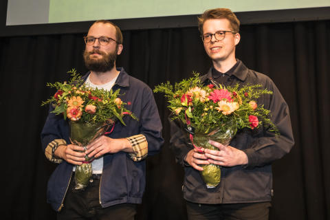 Tobias Jansson and Oscar Forsman the winners of Nya ögon på plast i arkitekturen (New view on plastics in Architecture)