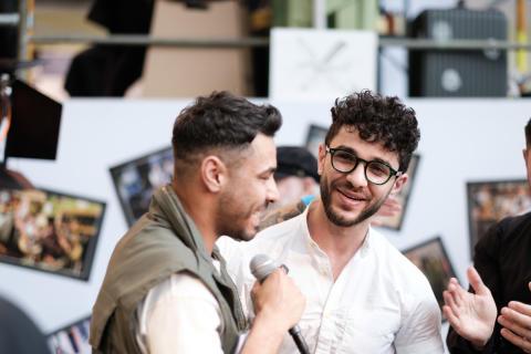 Moe Agha och Anas Baker, deltagare i Copenhagen Barber Battle 2019