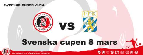 HuFF vs regerande cupmästarna IFK Göteborg 8 mars