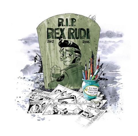 Se siste glimt av Rex Rudi i sommer