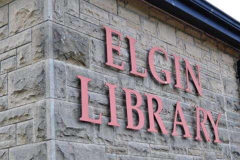 Elgin library sale