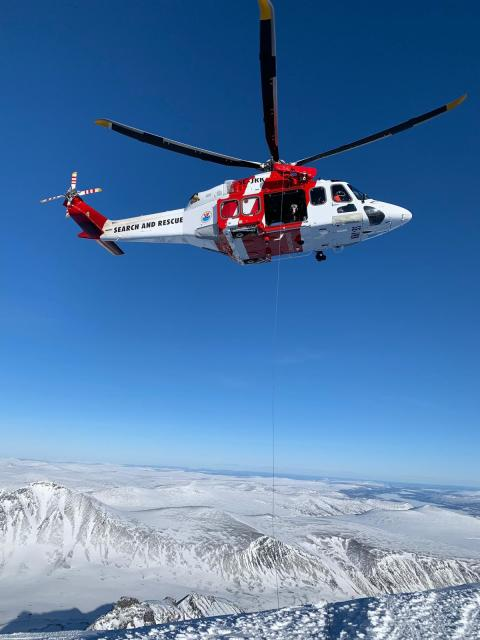 Vinterträningen avslutad för Sjöfartsverkets räddningshelikoptrar