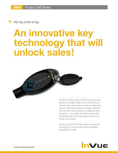 Varularm från Gate Security - InVue, Smart Lock - IR2 Key och IR2-S Key