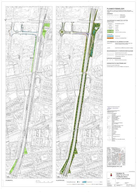 Plankarta Trafikplats Ideon