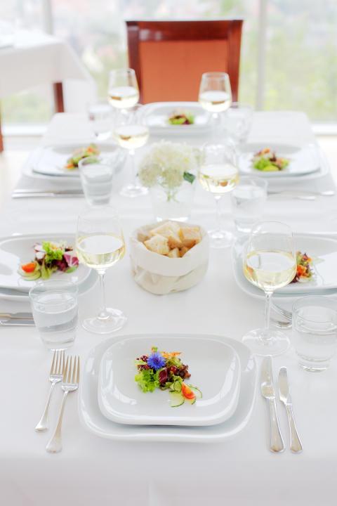 Gedeckter Tisch Restaurant Landgrafen Jena