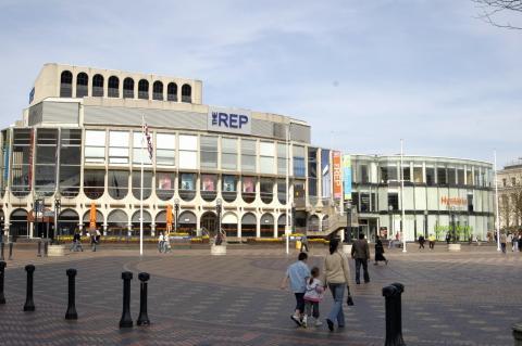 Birmingham Rep Theatre, from Broad Street, 2012