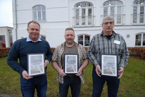 De tre vindere. Erik Christiansen, MAN Esbjerg, Jørgens Korsgaard, MAN Aalborg samt Bo Andersen, MAN Odense A/S.