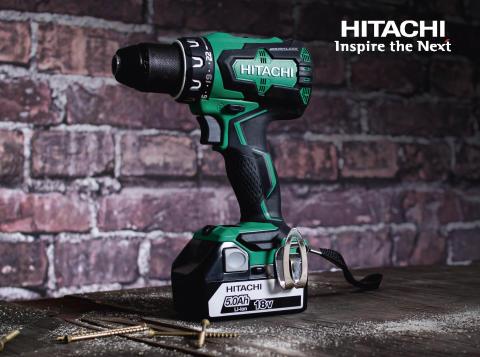 NYHET! Hitachi DS18DBSL 18V - en av markedets raskeste og sterkeste batteridrevne kompaktdriller