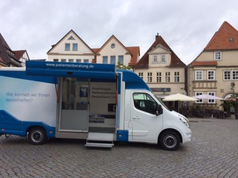 Beratungsmobil der Unabhängigen Patientenberatung kommt am 9. November nach Hameln.