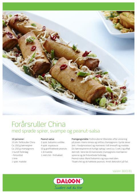 Opskrift: China Ovnruller med svampe salsa