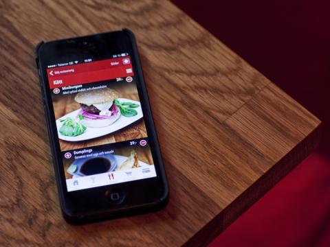 Hos oss beställer du med en app!