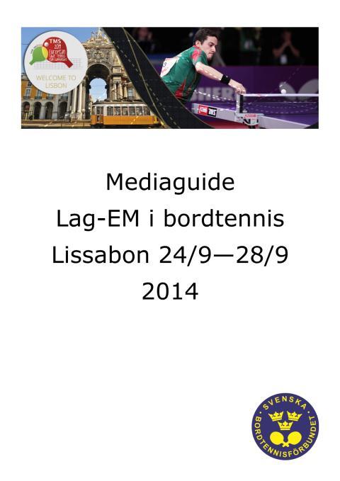 Mediaguide lag-EM Lissabon, Portugal 2014