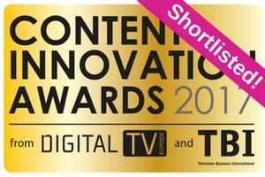 Net Insight finalist i Content Innovation Awards 2017