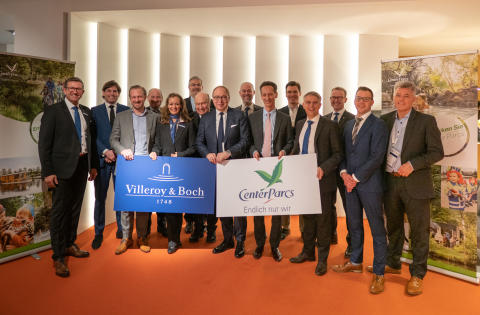 Villeroy & Boch and Center Parcs Conclude Cooperation Agreement