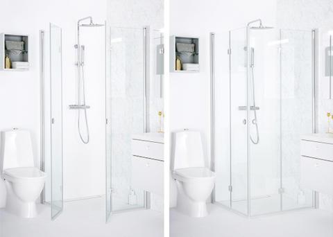Den nye brusevægserie SYNC fra INR – perfekt til trange badeværelser
