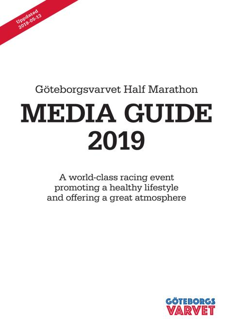Media Guide, Göteborgsvarvet Half Marathon 2019