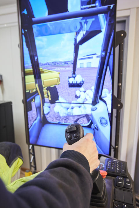 Simulator grävmaskin