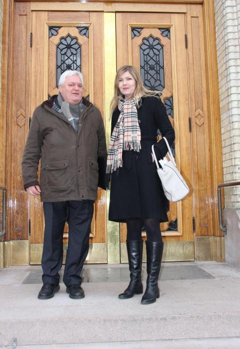 Ingen ny boligskatt: Generalsekretær Peter Batta og utredningssjef Kristin Gyldenskog møtte finanspolitikere på Stortinget.
