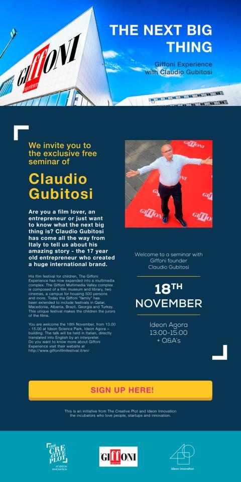 THE NEXT BIG THING Giffoni Experience with Claudio Gubitosi