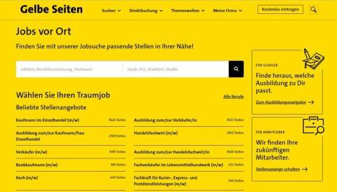 """""""Jobs vor Ort"""": Gelbe Seiten startet Stellenportal – als lokale Vermittlungsplattform für kleine und mittlere Unternehmen"""