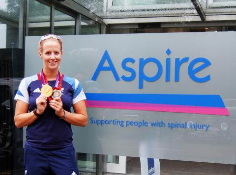 Paralympic gold medallist Naomi Riches drops in to Aspire HQ!