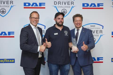 Peter Jacobs vinner International DAF Driver Challenge 2019