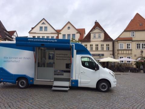 Beratungsmobil der Unabhängigen Patientenberatung kommt am 1. Juni nach Hameln.