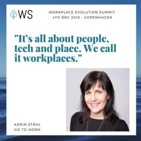 Karin Ståhl är med och lyfter fram Skandinaviens bästa exempel på arbetsplatser och arbetssätt.