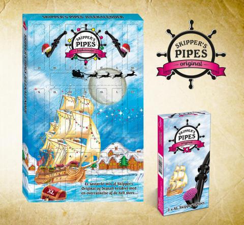Skipper's Pipes er blevet EKSTRA store og årets lakridsjulekalender er snart ude!