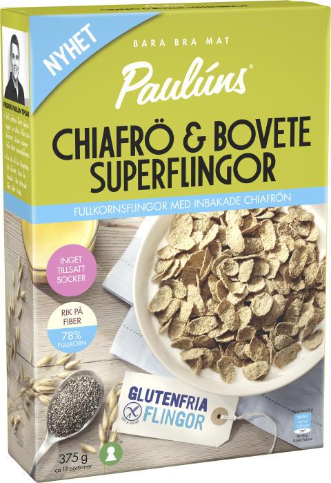 Paulúns Chiafrö & Bovete Superflingor – Naturell