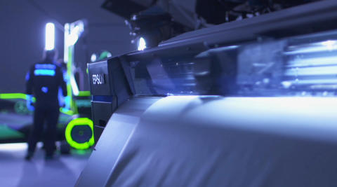 Epson and Mercedes-AMG Petronas Motorsport Create Glow-in-the-Dark Pit Stop