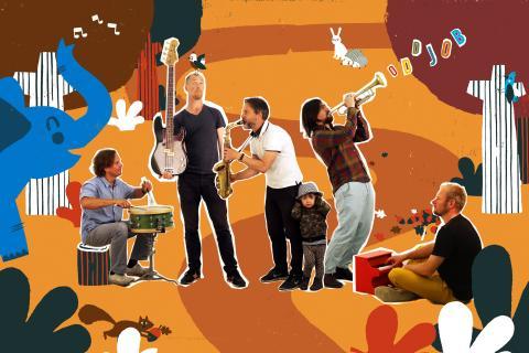 BLÅBÄRSKLUBBEN - Pannkaksbuffé och konsert med Jazzoo för barn från 4 år