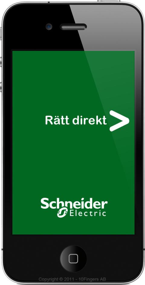 Schneider Electric lanserar appen Rätt Direkt för elinstallatörer
