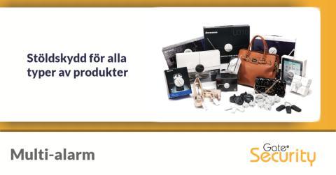 Multi-alarm: Stöldskydd för alla typer av produkter